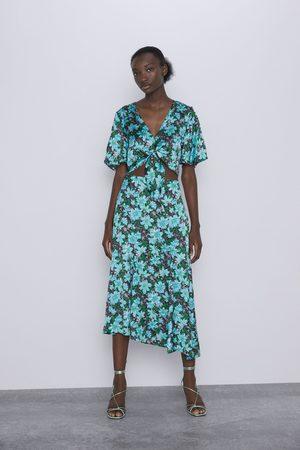 Zara Mujer Faldas - Falda flores abertura