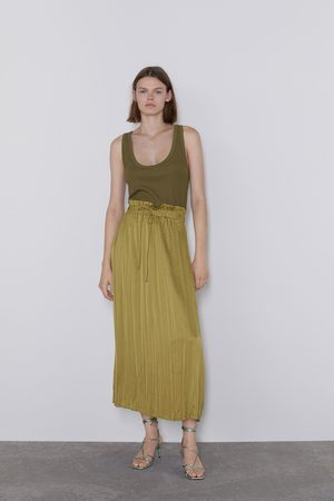 Zara Mujer Faldas - Falda satinada