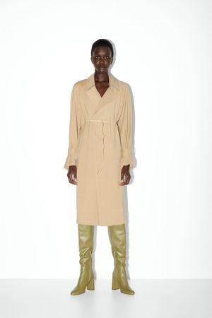 Zara Mujer Botas altas - Bota tacón piel caña alta