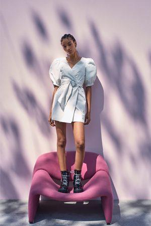 Zara Mujer Casuales - Vestido volumen cinturón