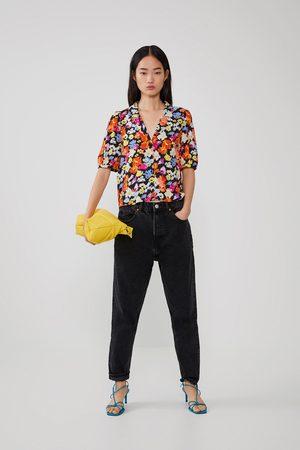 Zara Camisa estampada volumen