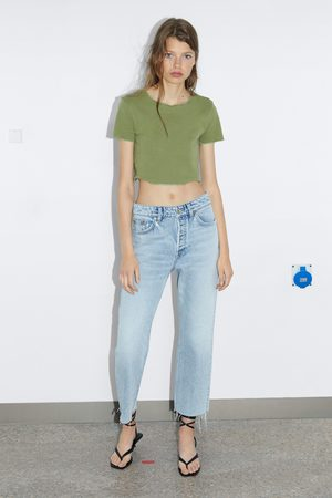 Zara Mujer Playeras - Camiseta cropped
