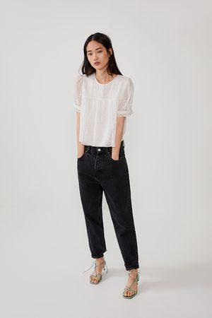 Zara Mujer Camisas - Camisa bordados