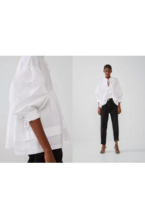 Zara Mujer Camisas - Camisa combinada lazadas
