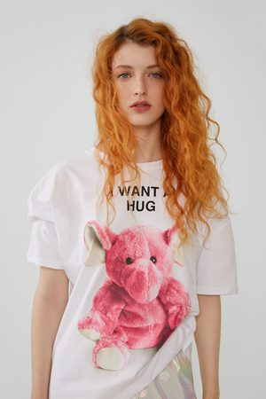 Zara Camiseta estampado peluche