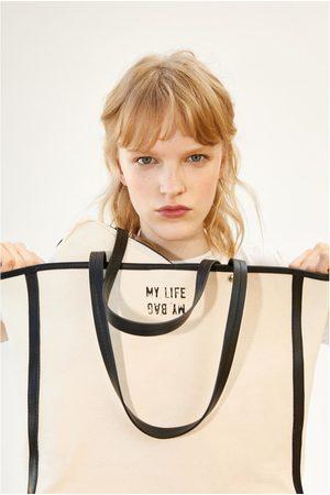 Zara Bolso shopper canvas