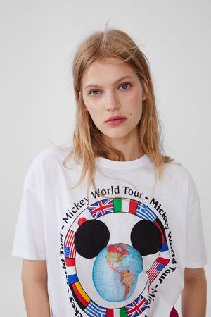 Zara Mujer Playeras - Camiseta mickey mouse ©disney