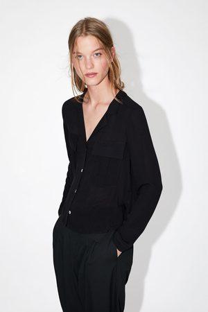 Zara Mujer Camisas - Camisa bolsillos