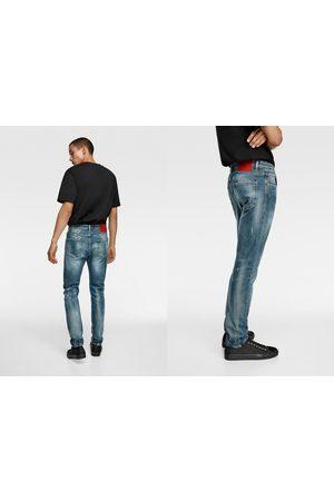 Zara Jeans skinny salpicaduras