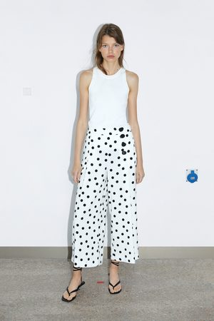 Zara Mujer Capri o pesqueros - Pantalón cropped
