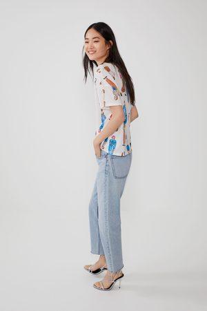 Zara Mujer Playeras - Camiseta estampada