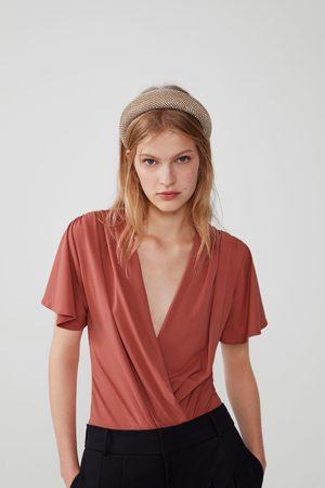 Zara Mujer Body - Body escote pronunciado