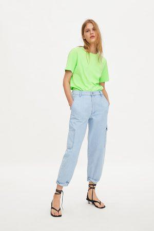 Zara Mujer Playeras - Camiseta básica