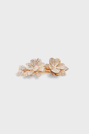 Zara Pasador pelo flores brillos