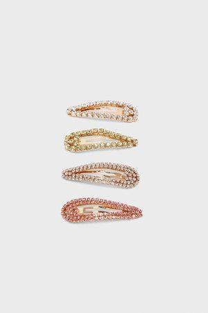 Zara Mujer Joyería - Pack pinzas brillo