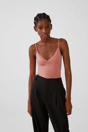 Zara Mujer Tops - Top tirantes tul