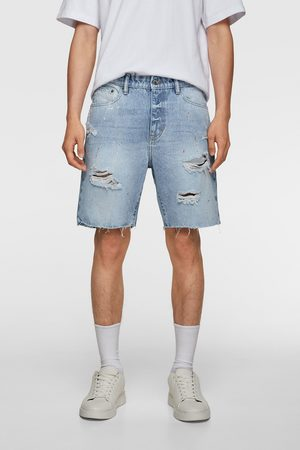 Zara Bermuda denim dripping