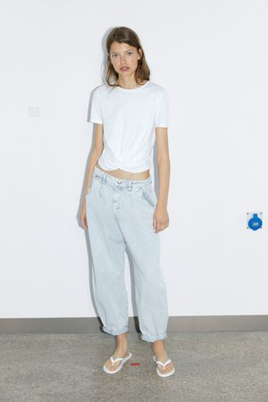 Zara Mujer Playeras - Camiseta cruzada
