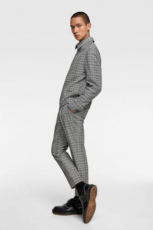 Zara Hombre Pantalones y Leggings - Pantalón estructura cuadros