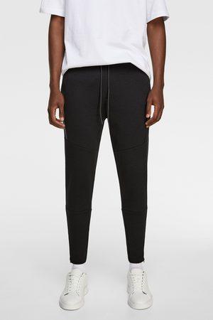 Zara Hombre Joggers - Pantalón jogger cremalleras