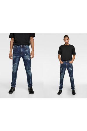 Zara Hombre Skinny - Jeans skinny salpicaduras