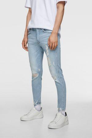 Zara Hombre Skinny - Jeans skinny bajo rotos