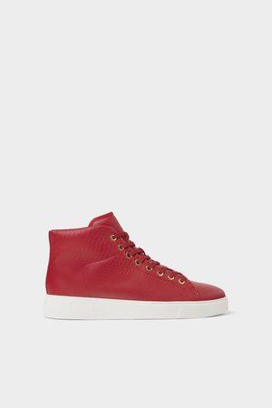 Zara Hombre Botines - Deportivo botín rojo