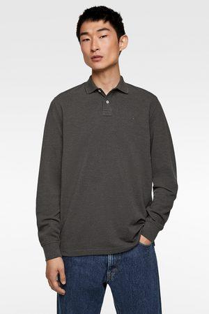 Zara Polo piqué manga larga