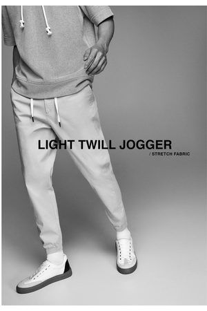 Zara Hombre Joggers - Pantalón jogger estructura