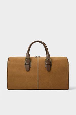 Zara Hombre Maletas y bolsas de viaje - Bolso de viaje bowling marrón