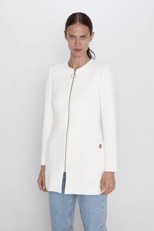 Zara Mujer Abrigos - Abrigo bolsillos