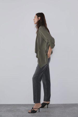 Zara Mujer Abrigos y Chamarras - Chaqueta fluida cordón