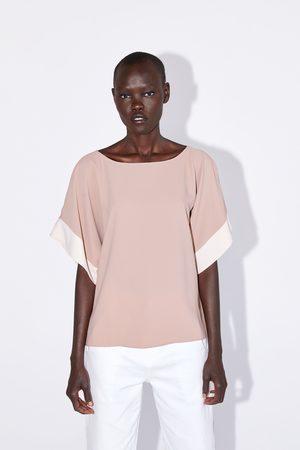 Zara Mujer Camisas - Cuerpo color block