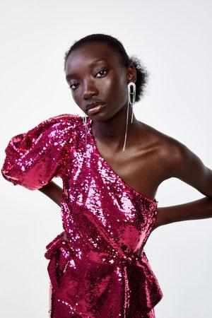 Zara Mujer Camisas - Cuerpo asimétrico lentejuelas edición limitada