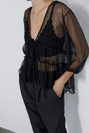 Zara Camiseta tul plumeti
