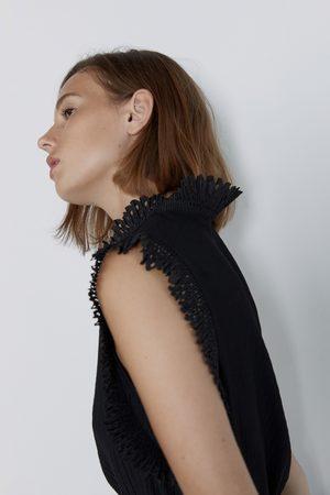 Zara Camiseta efecto plisado