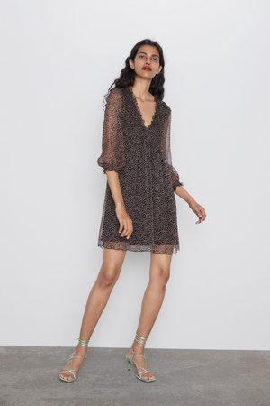 Zara Mujer Estampados - Vestido fluido estampado