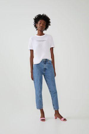 Zara Mujer Playeras - Camiseta estampación frontal