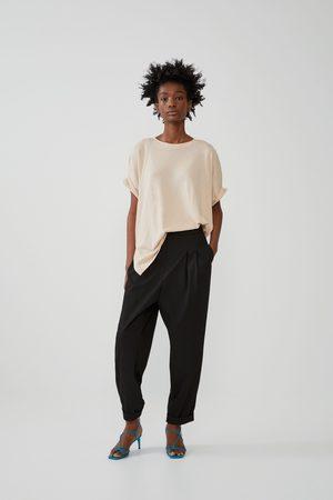 Zara Mujer Playeras - Camiseta oversize