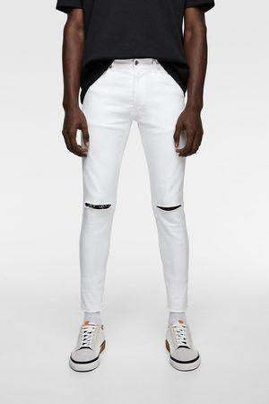 Pantalones Rotos Jeans De Hombre Color Blanco Fashiola Mx