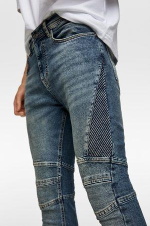 Zara Jeans biker pliegues