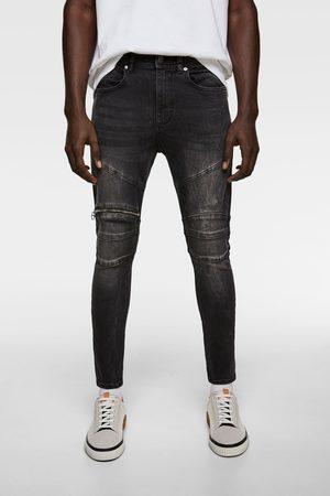 Zara Jeans biker cremallera