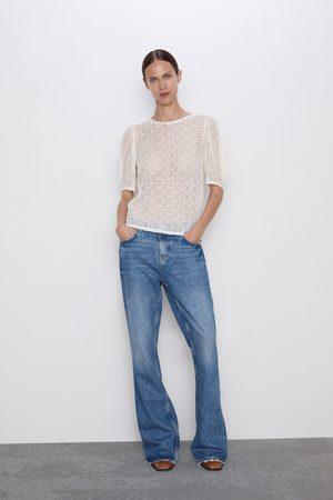 Zara Mujer Playeras - Camiseta estructura