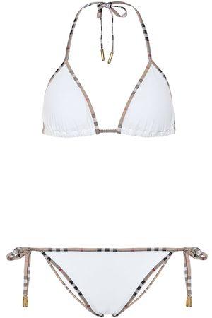 Burberry Mujer Bikinis - Vintage Check triangle bikini
