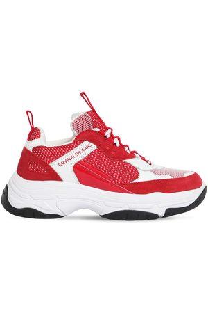 """Calvin Klein Sneakers """"maya"""" De Malla Y Piel 50mm"""