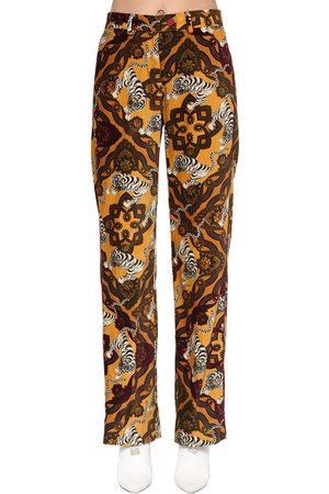 F.R.S For Restless Sleepers Mujer Pantalones y Leggings - Printed Cotton Velvet Pants