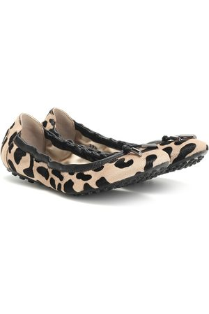 Tod's Exclusive to Mytheresa – Leopard-print calf hair ballet flats