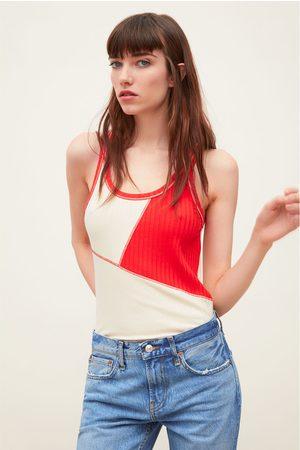 Zara Camiseta bicolor