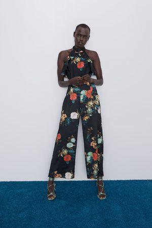 Zara Mono aberturas estampado floral