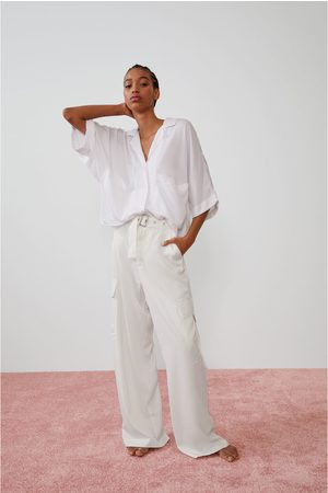 Zara Camisa fluida bolsillos